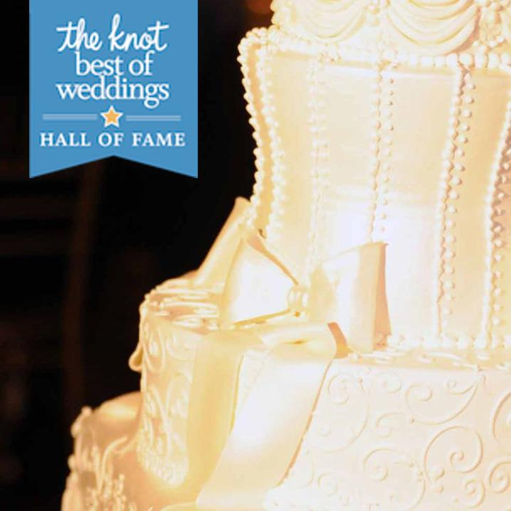 The Knot Best of Weddings Hall of Fame banner