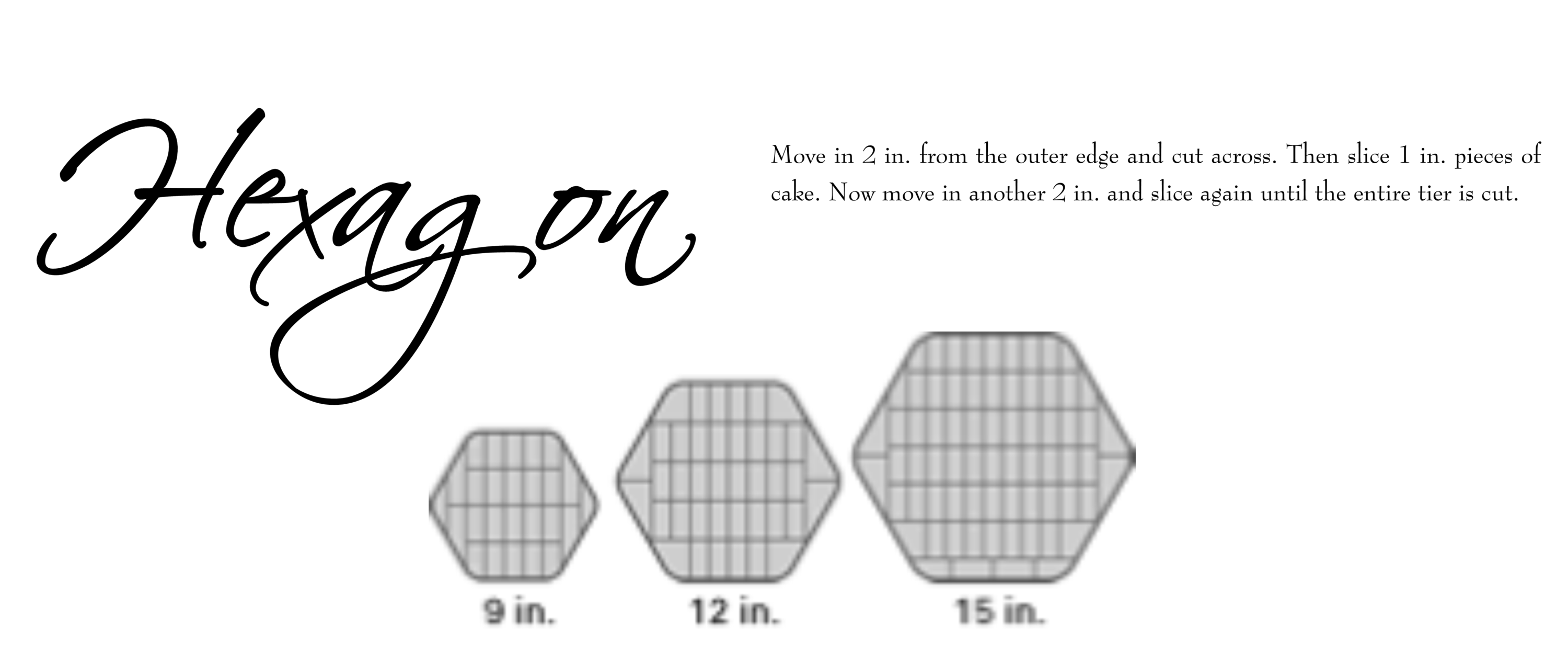 Hexagon tiered cake cutting guide