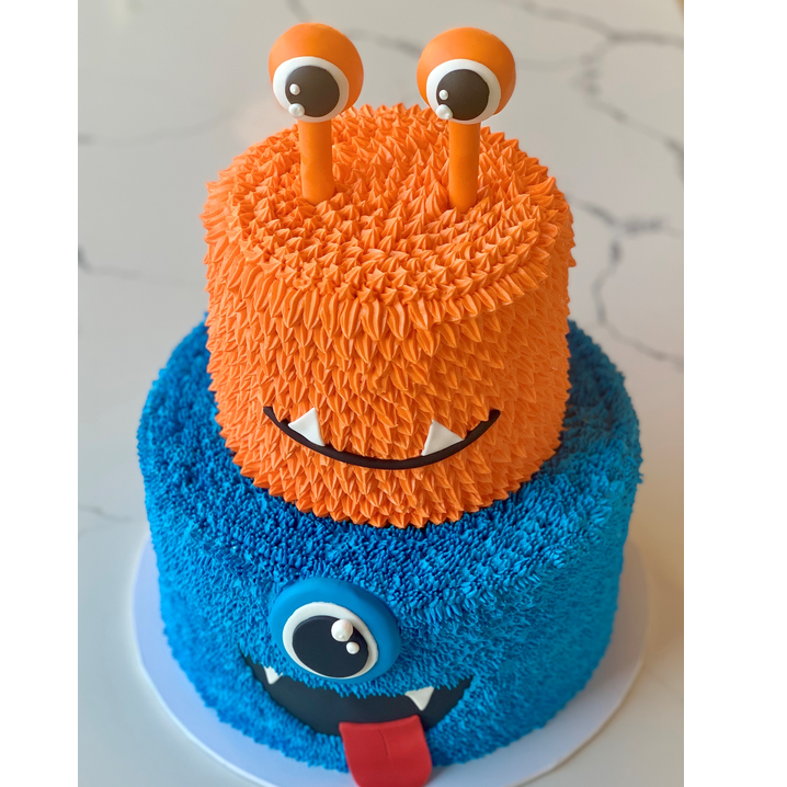 monster tiered cake