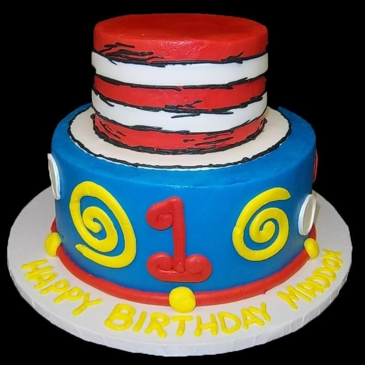 dr. seuss tiered cake