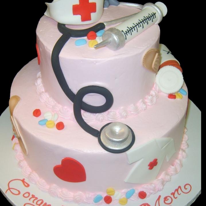 nurse graduation cake